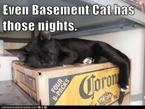 Even Basement Cat has those nights.
