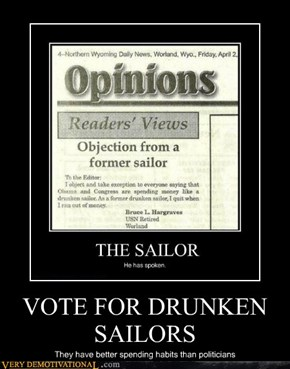 VOTE FOR DRUNKEN SAILORS