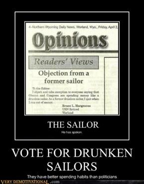 VOTE FOR DRUNKEN SAILORS
