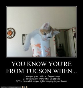 YOU KNOW YOU'RE FROM TUCSON WHEN...
