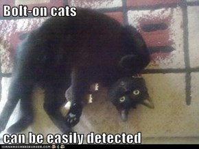 Bolt-on cats  can be easily detected