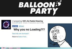 Balloon Party's out