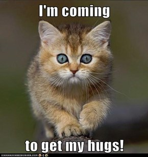 I'm coming  to get my hugs!