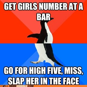 Socially Awesome Awkward Penguin: Just Assume the Number was Fake