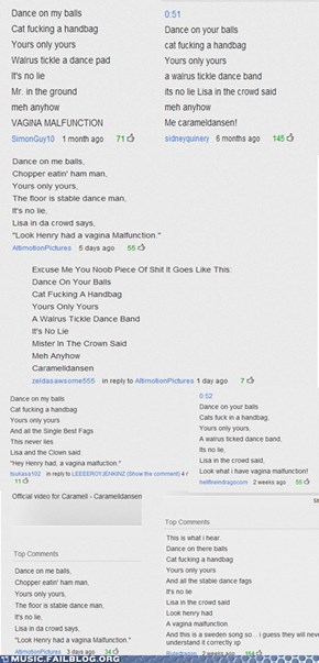 The lyrics to Caramelldansen according to the internets