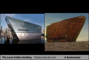 The Louis Vuitton Building Totally Looks Like A Sandcrawler