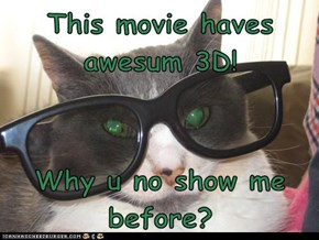 This movie haves awesum 3D!  Why u no show me before?