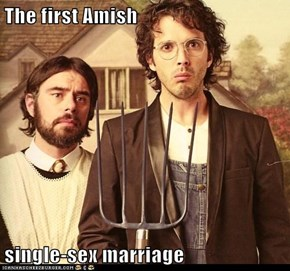 The first Amish  single-sex marriage