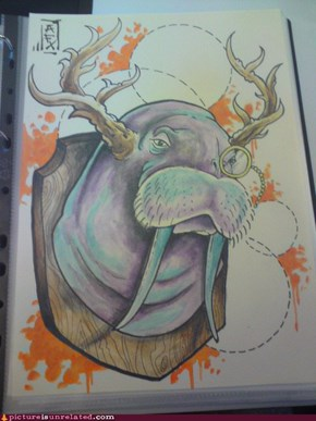 Rudolph the red nosed walrus