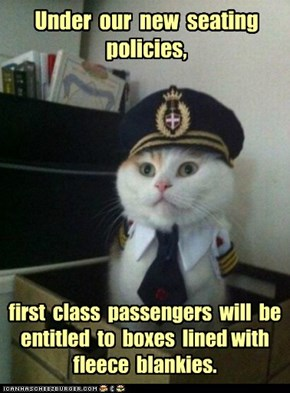 Captain Kitteh: Coach Passengers Get Garbage Bags