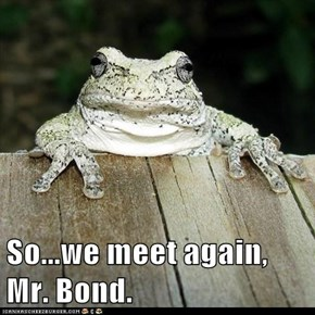 So...we meet again, Mr. Bond.