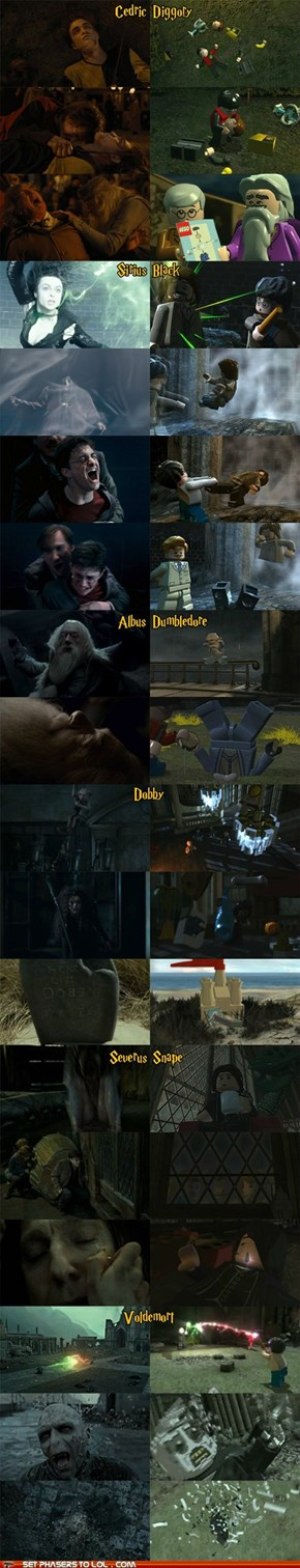 Harry Potter Deaths: Movies Vs. Lego