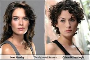 Lena Headey Totally Looks Like Ozlem Duvencioglu