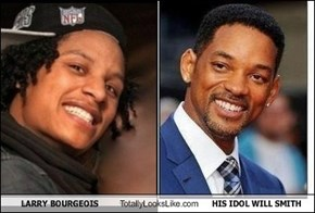 LARRY BOURGEOIS Totally Looks Like HIS IDOL WILL SMITH