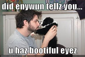 did enywun tellz you...  u haz bootiful eyez