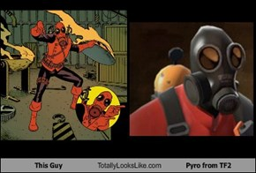 This Guy Totally Looks Like Pyro from TF2