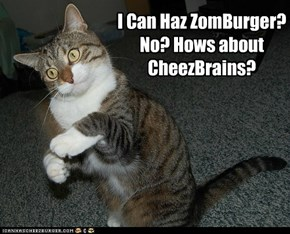 I Can Haz ZomBurger? No? Hows about CheezBrains?