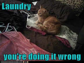 Laundry  you're doing it wrong