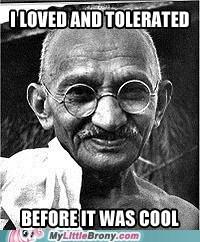 Hipster Gandhi