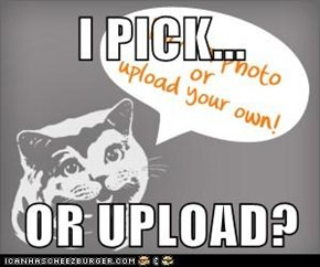 I PICK...  OR UPLOAD?