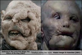 Gothmog in The Lord of the Rings: The Return of the King (2003)  Totally Looks Like Mason Verger in Hannibal (2001)