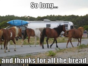 So long...  and thanks for all the bread