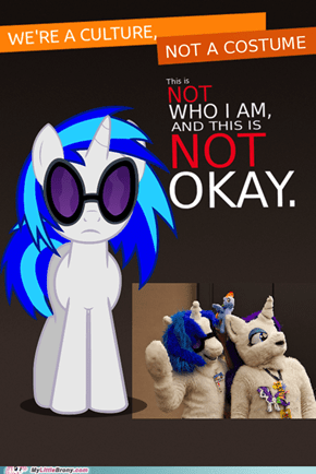 Vinyl Scratch is Not Amused By Your Intolerance