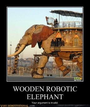 WOODEN ROBOTIC ELEPHANT
