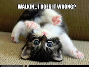 WALKIN .. I DOES IT WRONG?