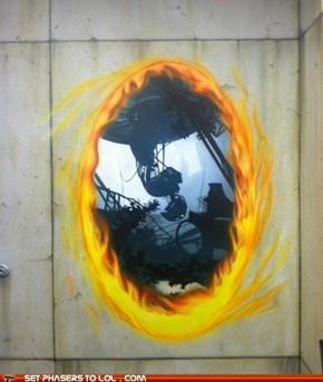Portal 2 Wall Painting