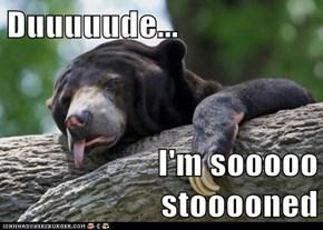 Duuuuude...  I'm sooooo stooooned