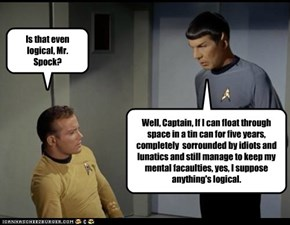 Is that even logical, Mr. Spock?