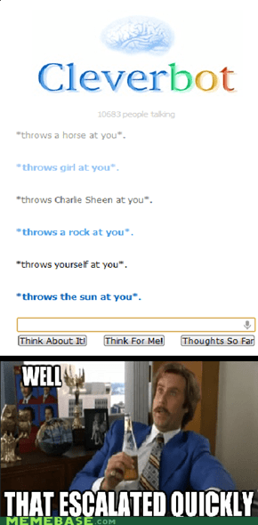 Cleverbot, you so crazy.