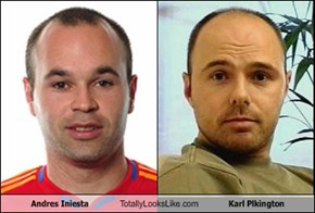 Andres Iniesta Totally Looks Like Karl Plkington