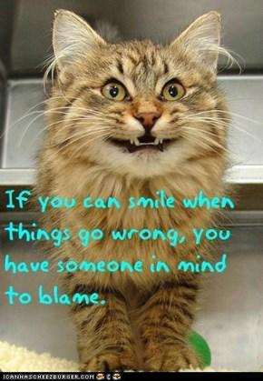 Cat Truisms - smiling