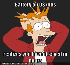 Battery on DS dies  realizes you havent saved in hours