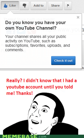 Thanks a lot, YouTube!