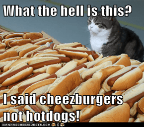 What the hell is this?  I said cheezburgers not hotdogs!