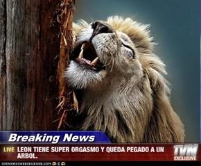 Breaking News - LEON TIENE SUPER ORGASMO Y QUEDA PEGADO A UN ARBOL.