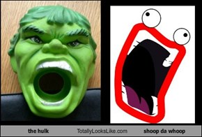 the hulk Totally Looks Like shoop da whoop