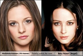 Mackenzie Rosman (7th Heaven) Totally Looks Like Amy Acker (Angel)