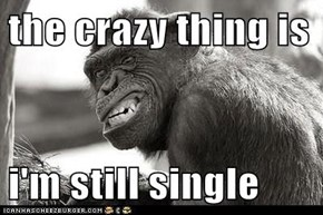 the crazy thing is   i'm still single