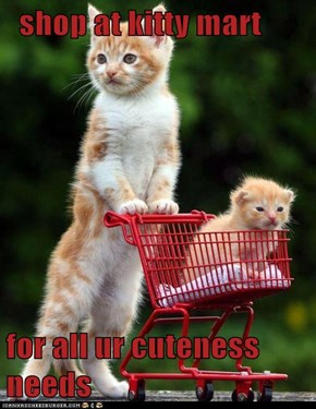 shop at kitty mart   for all ur cuteness needs