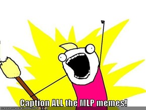 Caption ALL the MLP memes!