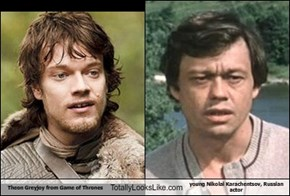 Theon Greyjoy from Game of Thrones Totally Looks Like young Nikolai Karachentsov, Russian actor