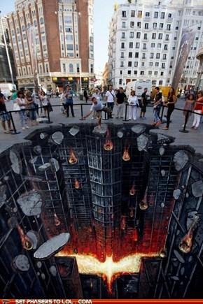The Dark Knight Rises 3D Street Art