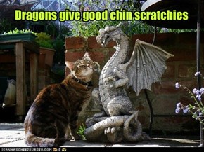 Dragons give good chin scratchies