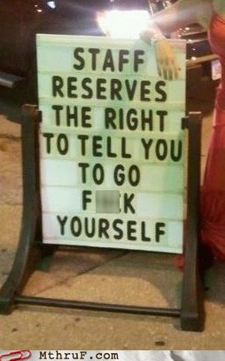 Well I Reserve the Right to Not Listen to You!