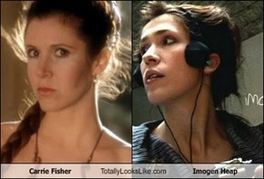 Carrie Fisher Totally Looks Like Imogen Heap