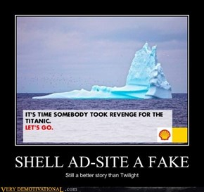 Shell ad-generator site is fake